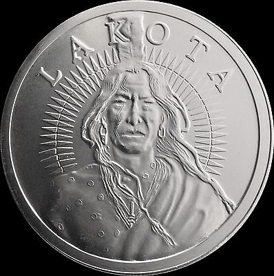 AOCS Lakota Nation - Crazy Horse 1 oz .999 Silver BU Round Bullion USA Made Coin