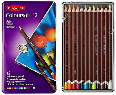 Derwent Coloursoft Colouring Pencils Tin Set of 12