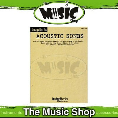 New Budget Books Acoustic Songs Music Book for Easy Piano