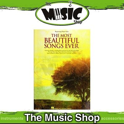 New The Most Beautiful Songs Ever Music Book for Beginning Piano Solos