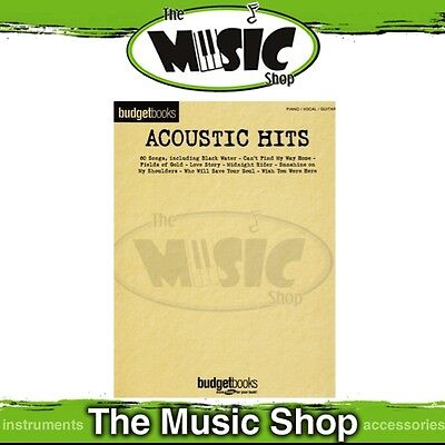 New Budget Books Acoustic Hits PVG Music Book - Piano Vocal Guitar