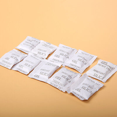 100 Packs 1/2/3G Silica Gel Packets Desiccant Sachets White Desiccant Moisture