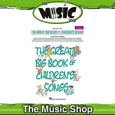 New The Great Big Book of Children's Songs for Big-Note Piano Music Book 2nd Ed.