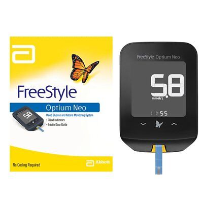 Abbott Optium Neo Freestyle Blood Glucose Monitor ::No Coding::
