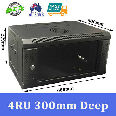 "4RU 4U 19"" 19 inch 600X300MM  WALL MOUNT SERVER CABINET DATA RACK"