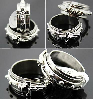 30pcs Jesus Spin Cross Stainless Steel rings Wholesale Fashion Jewelry lots