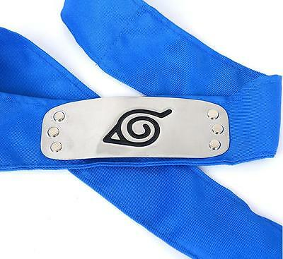 Sale NARUTO Ninja Headband Head Band bandana Cosplay Hatake Kakashi Blue *