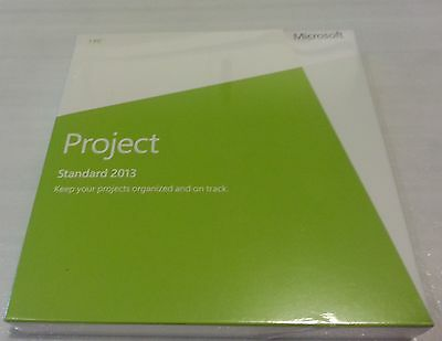 Microsoft Project Standard 2013 Retail DVD Install PC 1 Use