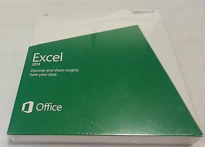 Microsoft Excel 2013 Commercial Use Retail DVD Install PC 1 Use