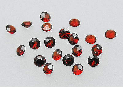 Garnet Natural Round Dark Red Loose Gemstone SS9 2.4mm / 2.5mm  Pack of 20