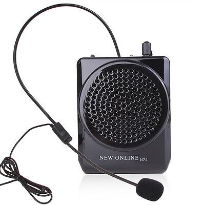 AKER MR1700 Portable Waistband Microphone Amplifier AMP Loudly Speaker & Headset