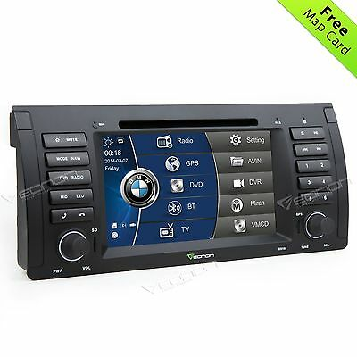 "7"" Car DVD Player GPS CD Stereo BT Touch Screen I Radio for BMW E53 X5 2000-2007"