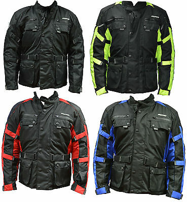 RKSports 1818  MENS TEXTILE MOTORBIKE MOTORCYCLE JACKET 2015 NEW 4 COLOURS