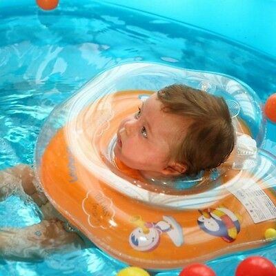 Baby Infant Bath Swimming Neck Float Inflatable Ring Adjustable Safety