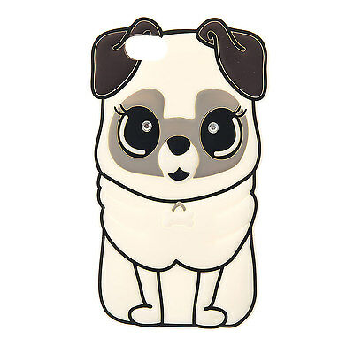Claire's Girls and Womens Diamante Pug Phone Case