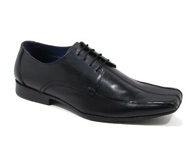 RED01B Mens PSL Black Leather Lace up Formal Shoes  sizes UK  7-11