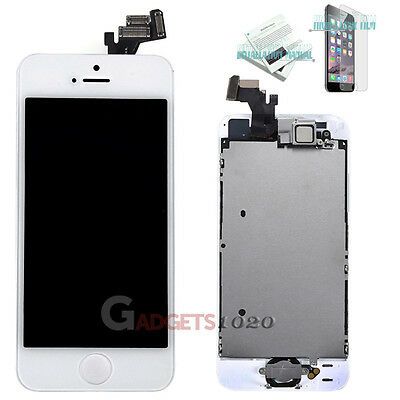 For White iPhone 5 Full Touch Screen LCD Display Digitizer Assembly Replacement