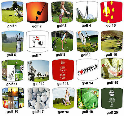 Lampshades Ideal To Match Pro Golf Accessories Golf Balls Golf Bags Golf Clubs