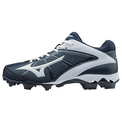 Mizuno Women's 9-Spike Finch Elite 2 Molded Softball Cleats - Navy - 320512