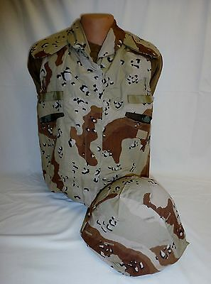 Desert Storm 6 Color Chocolate Chip PASGT Vest Cover, Kevlar Helmet Cover New