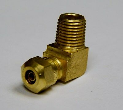 "Brass Fittings: DOT Air Brake Male Elbow, Tube OD 1/4"" Male Pipe 3/8"", Qty. 50"