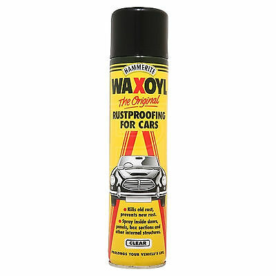 Hammerite Waxoyl Rust Proofing - Clear - 400ml Aerosol - Body Cavity Wax