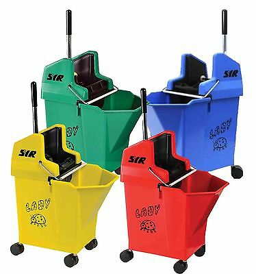 Kentucky Mop Bucket and Wringer - 15L with 30ml Portion Control - Ladybug by SYR