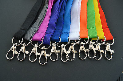 New Personalised Lanyard Coloured Neck Strap Mobile Phone Keys Pass Holder