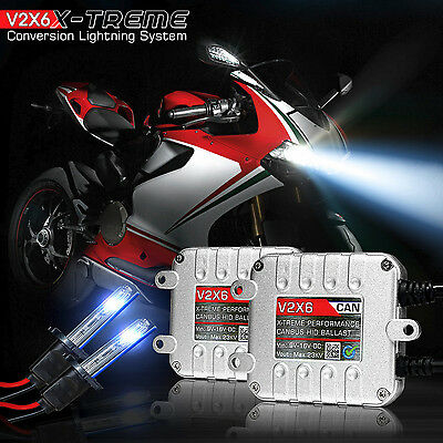CANBUS HID Headlight Conversion Kit 6K w/Adapters for Yamaha YZF R1 R6 2009-2015