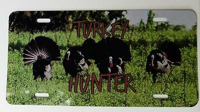 Turkey Hunter, Color Metal License Plate,Hunter Gift, Car Tag