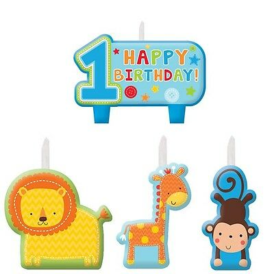 Party Decorations 1st Birthday One Wild Boys Mini Candles Set