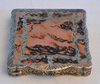 Vintage 1920s Austrian Silver and Enamel Compact