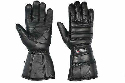 Leather Motorbike Motorcycle Gloves Waterproof Thermal Leather Gloves Cow hides