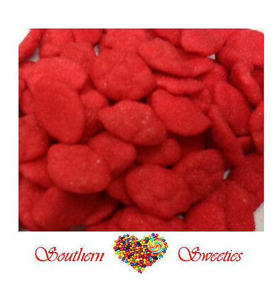 1Kg Strawberry Clouds Red Lollies Gummies Bulk Candy Buffet Approx 250Ct