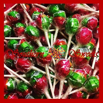 100 Rosey Apple Lollipops Original Johnsons Red Green Lollies Lolly Pops Xmas