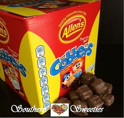 Allens Cobbers 900G Bag Chocolate Chewy Caramel Lollies Allen's