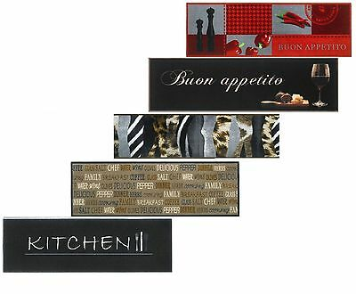 Kitchen Runner Machine Washable Long Hall Rug Doormat Modern Non-Slip Floor Mat
