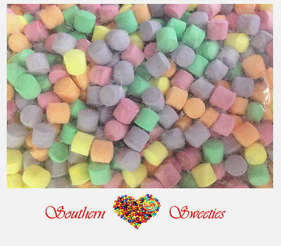 1KG MINI FLORALS COLOURFUL LOLLIES CANDY pink blue yellow orange purple green
