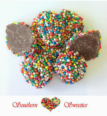 Chocolate Speckles Jewel Buds 1Kg Rainbow Colourful Lollies Freckles Milk Choc • AUD 11.99