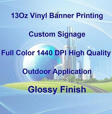 13Oz Full Color Custom Signage Vinyl Banner Printing High Quality, Glossy