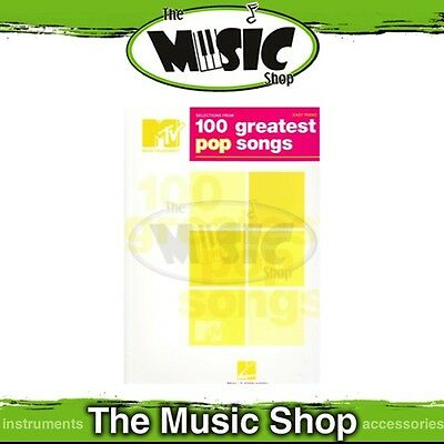 New MTV 100 Greatest Pop Songs Selections Music Book for Easy Piano