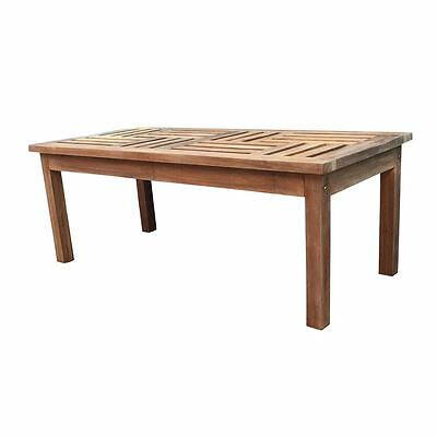 Solid Teak wood Coffee Table Rectangular Garden Outdoor Furniture CLEARANCE
