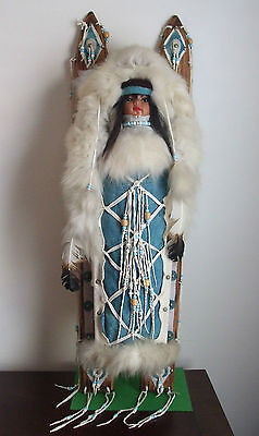 """38"""" Native American Doll on Traditional Back Board - Wall Decor"""