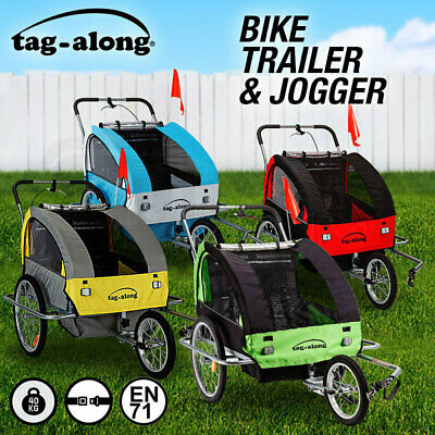 NEW Tag-along Kids Bike Trailer Child Bicycle Pram Stroller Children Jogger