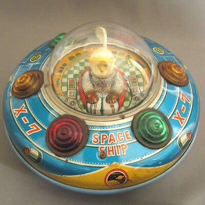 Made in Japan Masudaya Space Explorer X-7 1960s Vintage Rare Tin Toy From Japan
