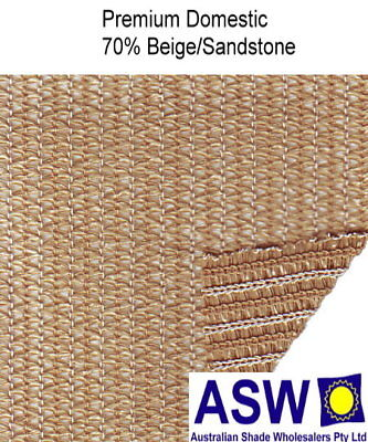 70% UV 3.66m (12') wide SANDSTONE Domestic SHADECLOTH Knitted Shade Cloth