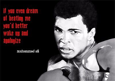 "Muhammad Ali The World's Greatest Boxer Art Print Wall Poster 34""x24""  001"