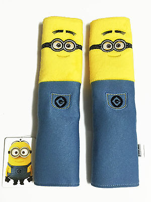 Minion Minions Car Accessory : 2 pieces Seat Belt Sholder Pads Covers