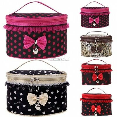 Beauty Case Valigetta Borsa trousse Scatola da Viaggio Trucco Make Up Bag SA88