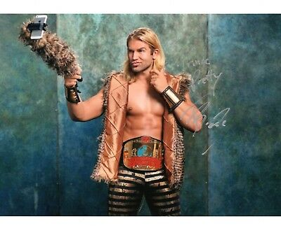 "TYLER BREEZE WWE SIGNED PHOTO WRESTLING 8x10"" PROMO WITH COA NXT"